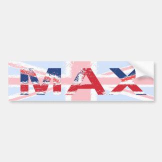Max Car Bumper Sticker