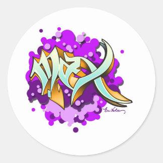 max classic round sticker