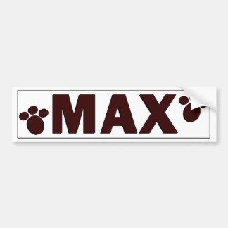 """Max"" Dog Bowl Sticker"