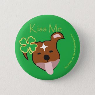 Max | Kiss Me Standard, 2¼ Inch Round Button
