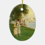 Max Liebermann- The Yacht Race Christmas Ornament