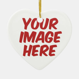 Max - Double-Sided heart ceramic christmas ornament