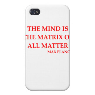 max planck quote iPhone 4 cover