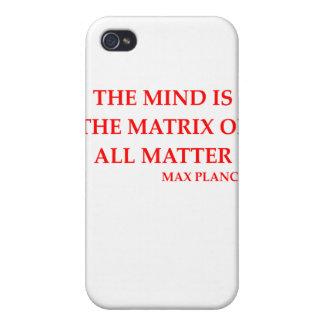 max planck quote iPhone 4 case