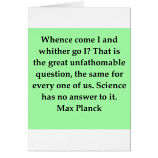 max plank quote greeting cards