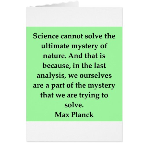 max plank quote greeting card