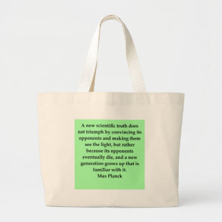 max plank quote large tote bag