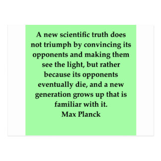 max plank quote postcard