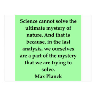 max plank quote postcards