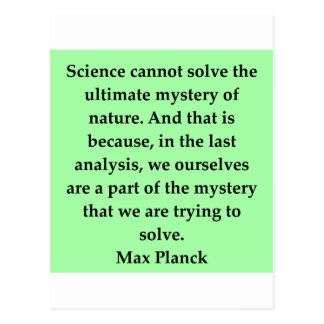 max plank quote post card