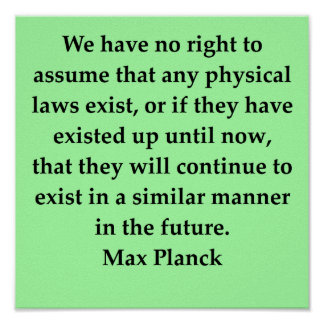 max plank quote poster