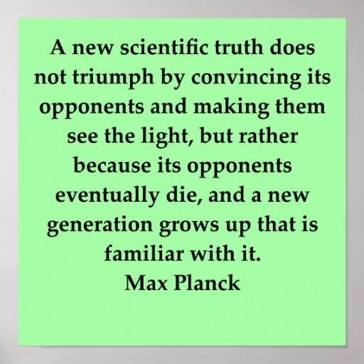max plank quote print