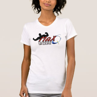 Max Q Body Ladies Spaghetti Top (Fitted), White Tee Shirt