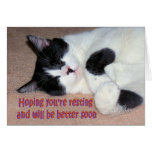 Max recovering greeting card