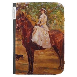 Max Slevogt- Lady in White Dress on Horseback Kindle Keyboard Cases