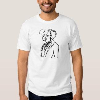 Max Stirner Smoking (Black on White) Tee Shirt