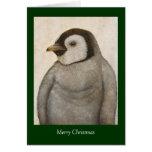 Max the baby emperor penguin Christmas card