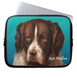 Neoprene Laptop Sleeve 10 inch with Saint Bernard Phone Cases design