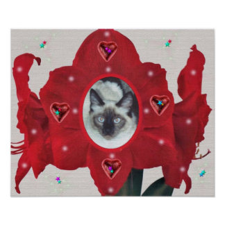 MAX THE CAT FLOWER POSTER