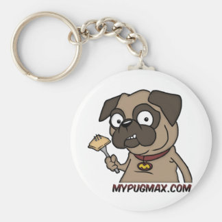 Max The Pug Basic Round Button Keychain