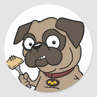 Max The Pug Classic Round Sticker