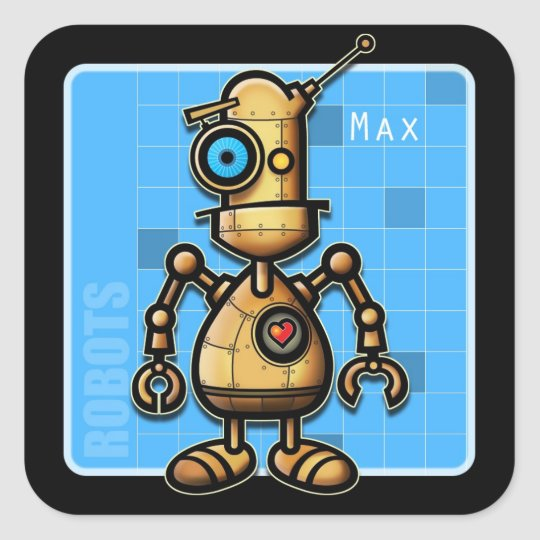 Max the Robot Sticker