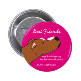 "Max & Willamena Best Friends 2 1/4"" Button"