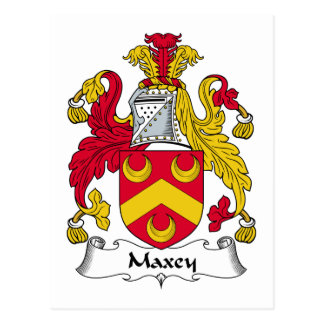Maxey Family Crest Postcard