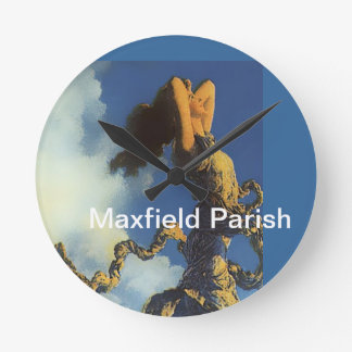 Maxfield Parish Painting Design Round Wall Clock