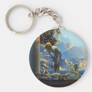 Maxfield Parrish Daybreak Basic Round Button Keychain