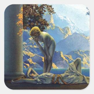 Maxfield Parrish Daybreak Square Sticker