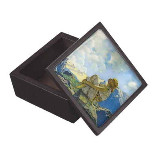 Maxfield Parrish, mañana - caja de regalo superior Cajas De Regalo De Calidad
