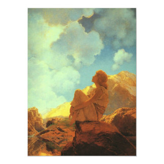 Maxfield Parrish Morning (Spring) Vintage Art 5.5x7.5 Paper Invitation Card