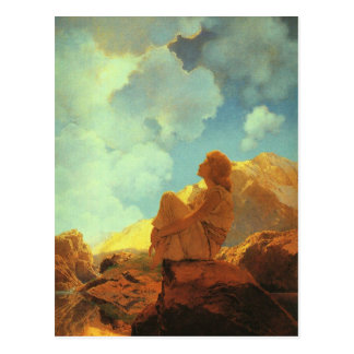Maxfield Parrish Morning (Spring) Vintage Art Postcard