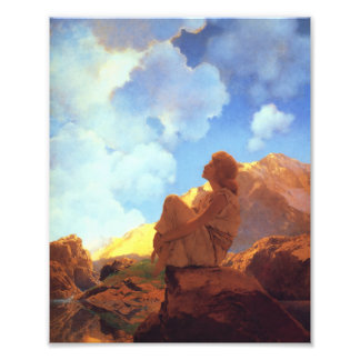 Maxfield Parrish Morning, Spring, Vintage Fine Art Photographic Print
