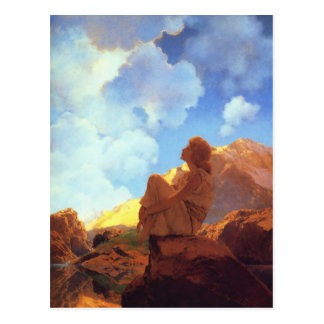 Maxfield Parrish Morning, Spring, Vintage Fine Art Postcard