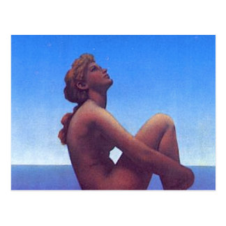 """Maxfield Parrish Stars"" Postcard"