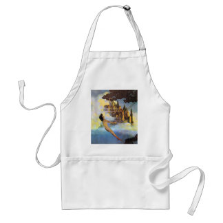 Maxfield Parrish The Dinky Bird Vintage Book Apron
