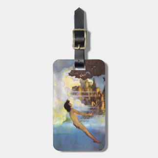 Maxfield Parrish The Dinky Bird Vintage Book Travel Bag Tags