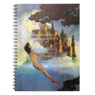 Maxfield Parrish The Dinky Bird Vintage Book Spiral Note Book