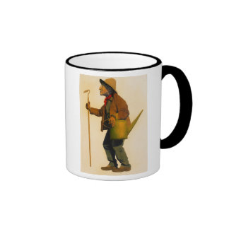 """Maxfield Parrish The Gardener"" Ringer Mug"