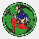 Maxfield Parrish-y Christmas Elf Stickers