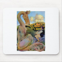 Maxfield Parrish's Conversation with a Dragon Mouse Pad