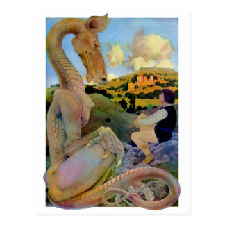 Maxfield Parrish's Conversation with a Dragon Postcard