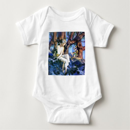 Maxfield Parrish's Fair Princess and the Gnomes Baby Bodysuit