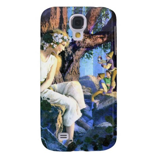 Maxfield Parrish's Fair Princess and the Gnomes Galaxy S4 Case