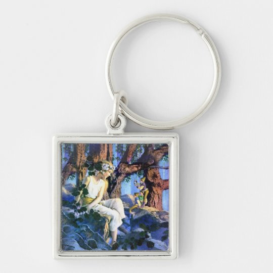 Maxfield Parrish's Fair Princess and the Gnomes Keychain