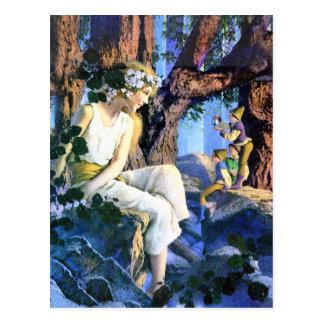 Maxfield Parrish's Fair Princess and the Gnomes Postcard
