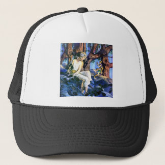 Maxfield Parrish's Fair Princess and the Gnomes Trucker Hat