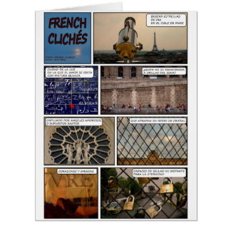 "Maxi card ""French Cliches"" Disentanglement"